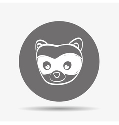 Skunk icon design vector
