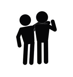 Solidarity pictogram icon vector