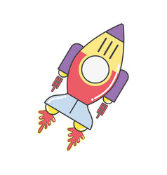 Space rocket galaxy sky travel vector