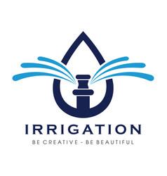 Sprinkler and irrigation logo inspiration vector