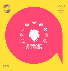 Technical support operator flat icon vector