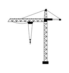 tower crane isolated flat design vector image