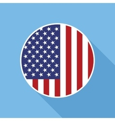 USA National Flag Flat Icon vector image