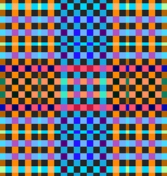 Vibrant colored gingham seamless background vector image
