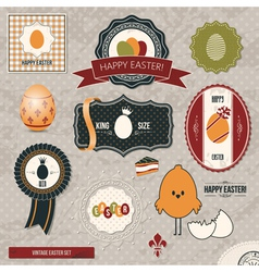 vintage easter set vector image