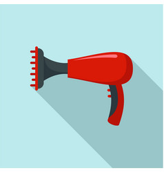 Warm hair dryer icon flat style vector