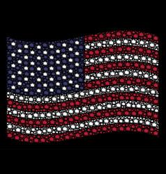 Waving united states flag stylization of bang vector