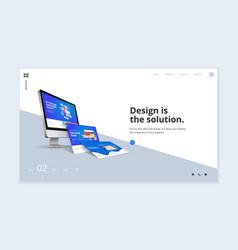 website template design vector image