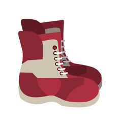 winter boots equipment vector image