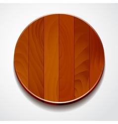Wood circle isolated vector