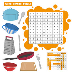 Word search puzzle education game for vector