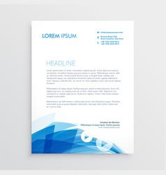 Abstract blue letterhead design template vector