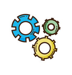 color gear industry engineering process vector image