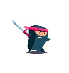 Cute Emotional Ninja with Katana vector image vector image