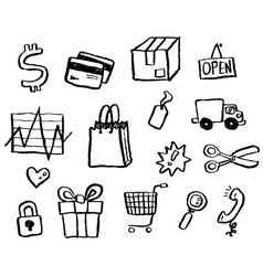 doodle series - shopping vector image vector image