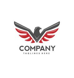 Eagle bird logo vector