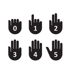 hands count gesture finger and number vector image vector image