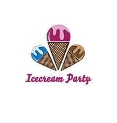 icecream party vector image vector image