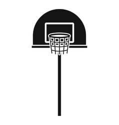 Street basketball hoop icon simple style vector image vector image