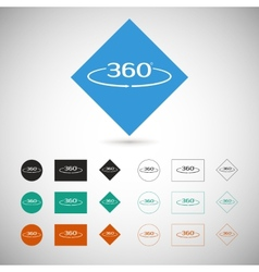 Angle 360 degrees sign vector image vector image