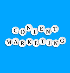 content marketing inscription composed of paper vector image vector image