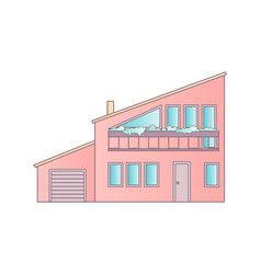 house flat design abstract architecture vector image