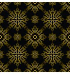 Inca tile gold vector image vector image