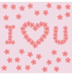 letters i love u vector image