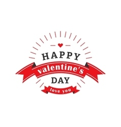 Valentines day label vector image vector image