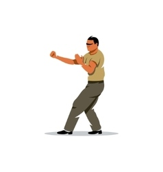 Wing Chun kung fu Man Cartoon vector image vector image