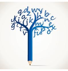 alphabetical tree stock vector image