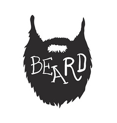 Beard with Text isolated on white background vector image vector image