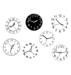 Set of isolated clock dials vector image vector image