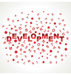 Development word with in alphabets vector image vector image