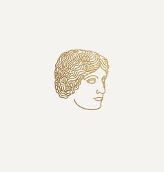 greek girl logo vector image