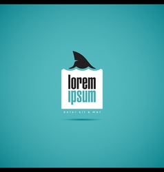 shark of business company logo template vector image