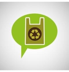 symbol recycle plastic bag design vector image