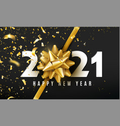 2021 happy new year background with golden vector image