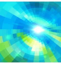 Abstract blue technology concentric mosaic vector