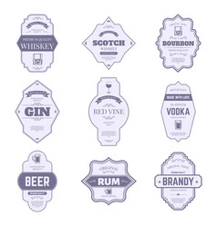 alcohol bottle labels traditional alcohol labels vector image