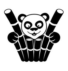 animal panda sign vector image
