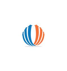 Arrow up round colored logo vector