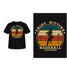 Baseball california merchandise silhouette vector