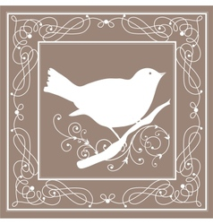 Bird frame vintage vector