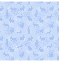 blue enchanted lapins pattern vector image