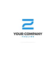 blue logo letter z modern vector image