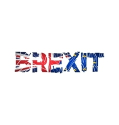 Brexit Text Isolated Brexit cracks Text Isolated vector image