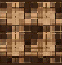 brown tartan plaid seamless pattern vector image