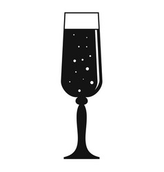 bubble champagne glass icon simple style vector image
