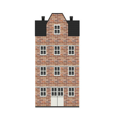 Building in bricks in city vector